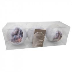 Julgranskulor med ekorrar, 8 cm, 3 st./förpackning
