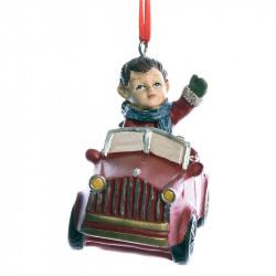 Julgransdekoration, Pojke i bil