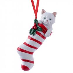 Julgransdekoration, Julstrumpa med ränder och katt