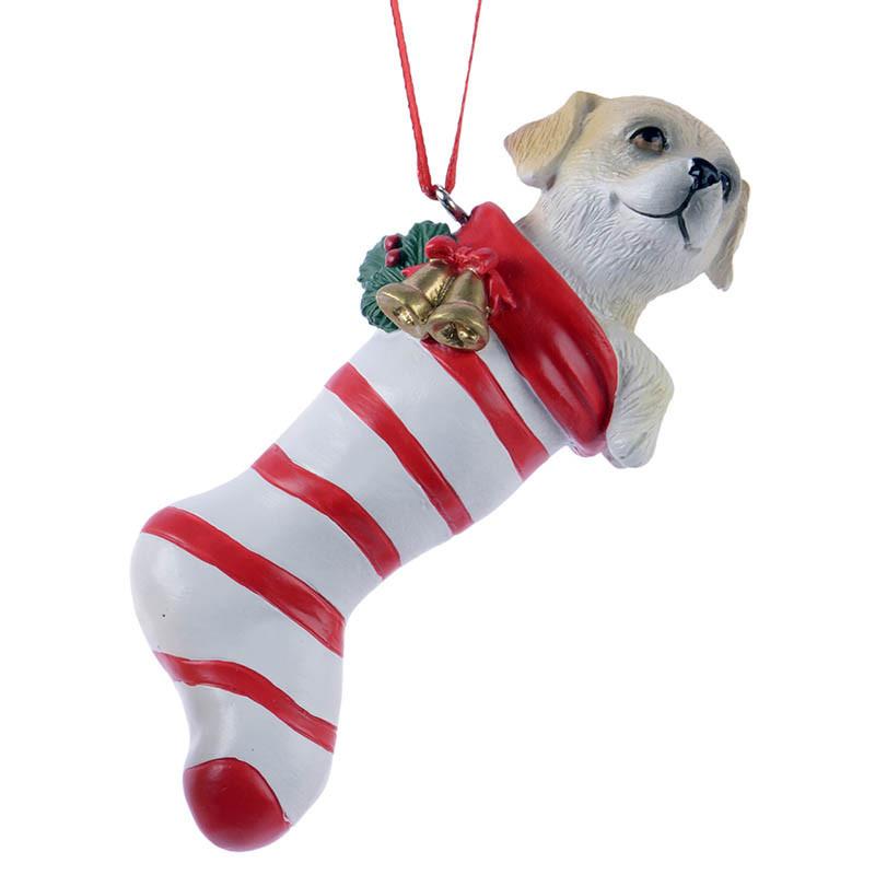 Julgransdekoration, Julstrumpa med ränder och hund