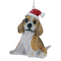 Julgransdekoration, hund med tomteluva, beagle