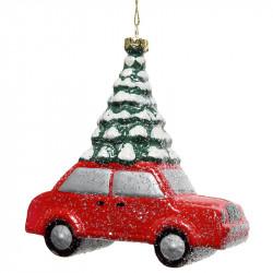 Julgransdekoration, Bil med snöig julgran