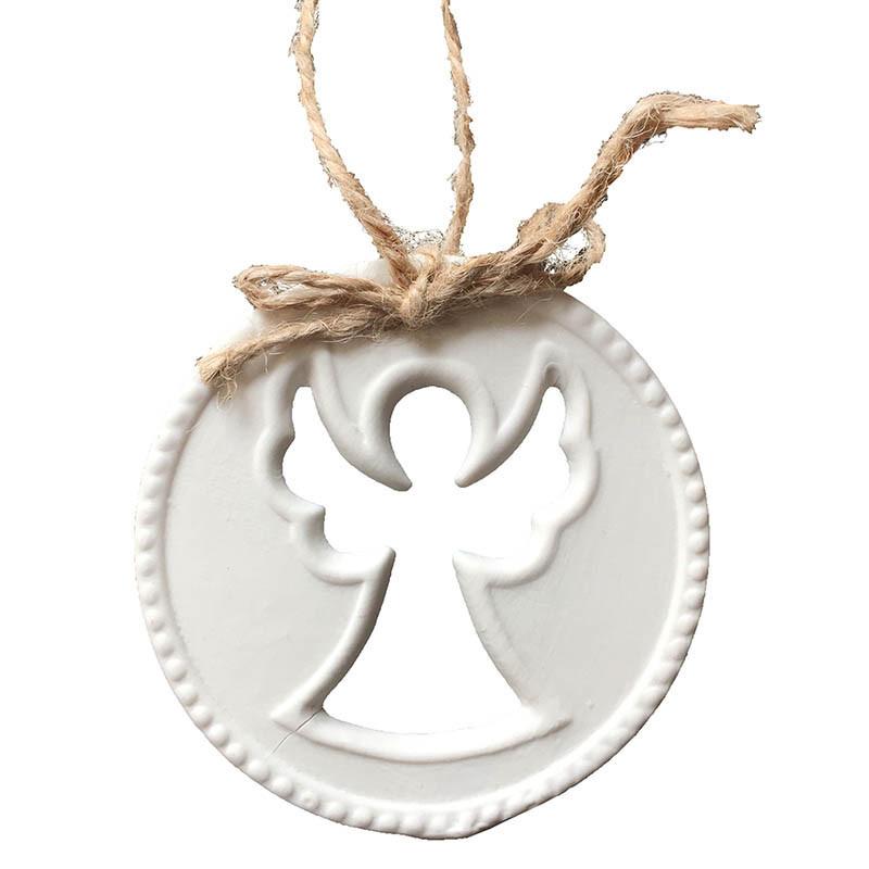 Julgranspynt med utstansad ängel