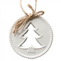 Julgransdekoration med utstansad julgran