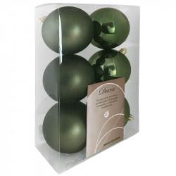 Julgranskulor, 8 cm, 6-pack