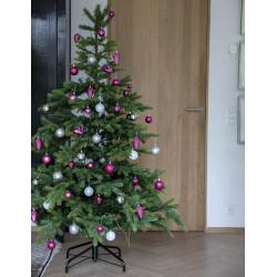 Julgranskulor, Silver-vit mix, 6 cm, 30 st./förpackning