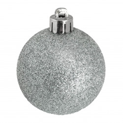 Julgranskulor, Silver-mix, 8 cm, 34-pack