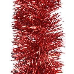 Glittergirlang, Ø:10cm Röd