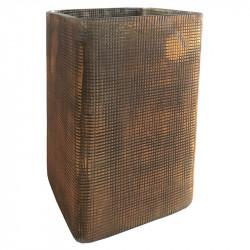 Fyrkantig ljusstake, värmeljus, 8x8 cm H: 13 cm