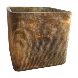Fyrkantig ljusstake, värmeljus, 8x8 cm H: 7,5 cm
