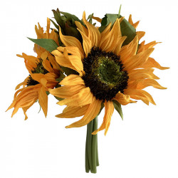 Solrosbukett, 3 blommor, 25 cm, konstgjord blomma