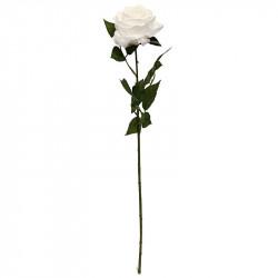Rose Dijon Vit 64cm, konstgjord blomma