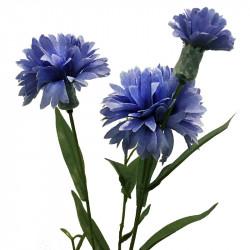 Blåklint, kvist med 3 blommor, blå-lila, konstgjord blomma