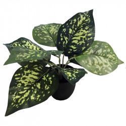 Prickbladsväxt i svart kruka, 28cm, Konstgjord växt