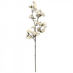 Äppelgren med blommor, 95 cm, vit, konstgjord växt