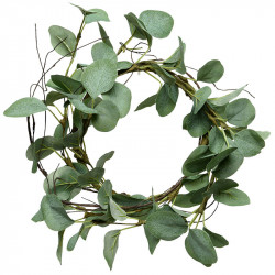 Eukalyptuskrans, 33 cm, konstgjord växt