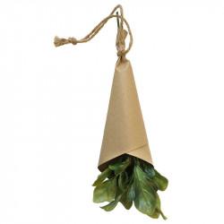 Kryddört, Basilika 25 cm i pappersomslag, konstgjord växt