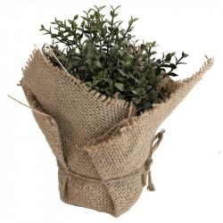 Timjan i jutepåse, 22 cm, konstgjord växt