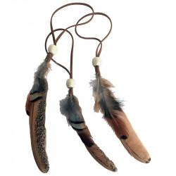 Fjäder med hänge och präla