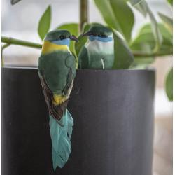 Fågel på pinne, 2 identiska i set med 3 blandade färger,kon