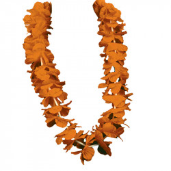 Hawaii-krans, 55 cm Orange