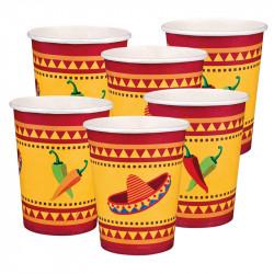 "Pappmug ""Mexiko"" i 6 delar / set"