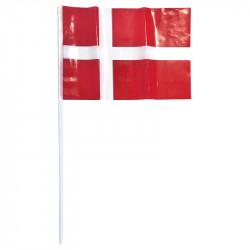 Plastflagga på pinne, Danmark (10 st) A4
