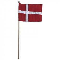 Flagga i tyg på träpinne, Danmark 19x26cm H 61cm