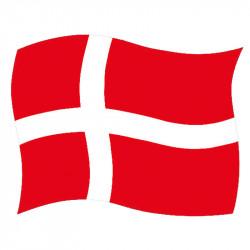 Självhäftande flagga, Dannebrog, A5, (10 st. / Förpackning)