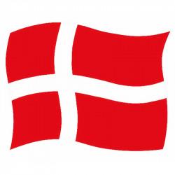 Självhäftande flagga, Dannebrog, A4, (10 st. / Förpackning)