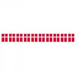Flaggirlang, 30 m med 76 danska flaggor i A4