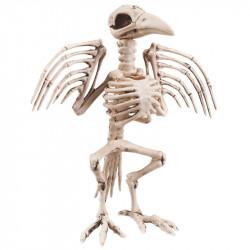 Stående kråkskelett, H 32cm