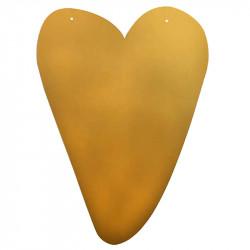 Guldhjärta för upphängning, ca H41cm