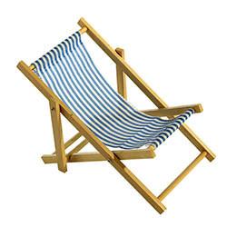 Mini-solstol, 18x38 cm blårandig