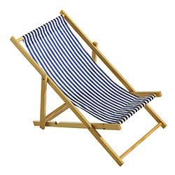 Mini-solstol, 25x52 cm blårandig