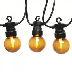 LED-ljusslinga med rökfärgade glödlampor, 950cm