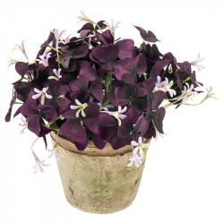 Turklöver i kruka, lila/rosa, 24 cm, konstgjord växt
