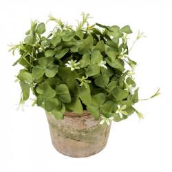 Turklöver i kruka, grön, 24 cm, konstgjord växt