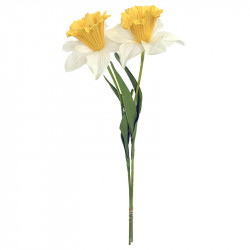 Påsklilja, Gul/vit, 2 st, H60cm, konstgjord blomma%