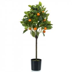 Apelsinträd i kruka, 75 cm, konstgjord växt