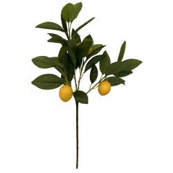 Citronträdgren, 3 citroner, 55 cm, konstgjord växt
