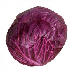 Rödkålshuvud, 13 cm, konstgjord mat