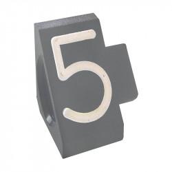 """Prisindex, Compact Midi """"5"""", Grå"""