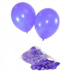 Ballonger, Kvalitetshelium 100 st i påse, Lila
