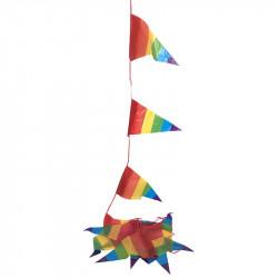 Vimpelgirlang, pride, 8m, 14 flaggor
