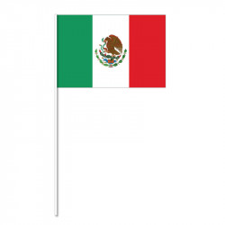 Flagga på plastpinne, Mexiko