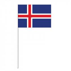Flagga på plastpinne, Island