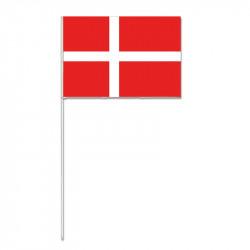 Flagga på plastpinne, Danmark (25 st.)