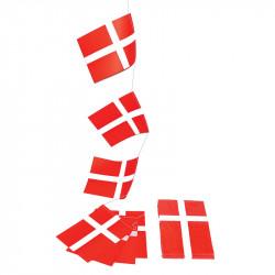 Flaggirlang, 4,5 m med 10 danska flaggor i A4