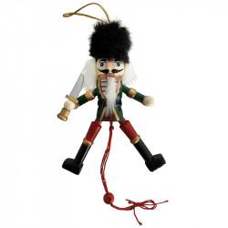 Nötknäppare i trä med kniv, sprattelgubbe för upphängning
